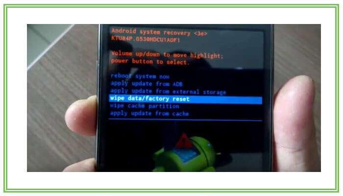 сброс настроек на андроид через рекавери