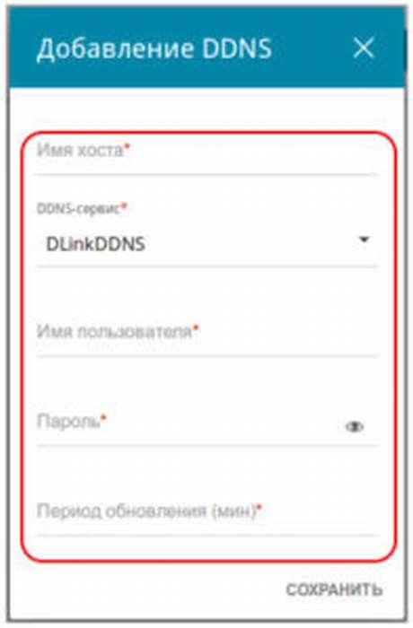 Настройка DDNS
