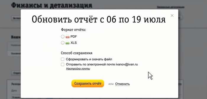 Детализация счета Билайн бесплатно