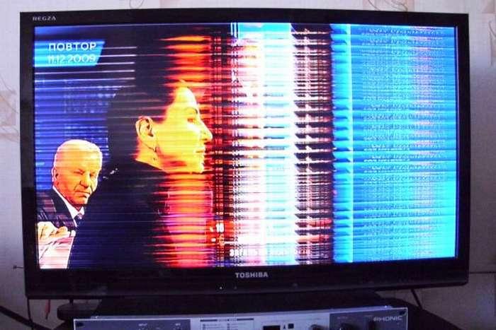 Пример поломки изображения на телевизоре LG