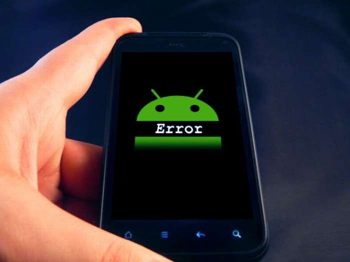 ошибка андройд