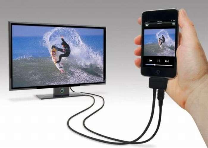 Вывод изображения с телефона на телевизор через USB
