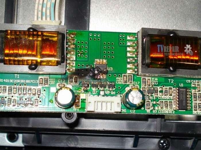 Сгоревший инвертор на телевизоре LG